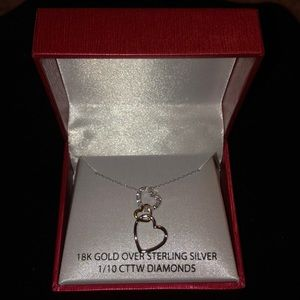 Jewelry - NWT. 18K gold ,sterling silver. 1/10 cttw diamonds